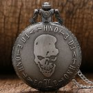 Vintage Bronze Death Note Quartz Pocket Watch Necklace Pendant Clock