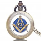 Masonic Free-Mason Freemasonry Retro Relogio De Bolso Beautiful Pendant Mason Pocket Watch