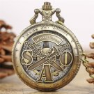 Sword Art Online Necklace Watches Kid Children Men Quartz Pocket Watch