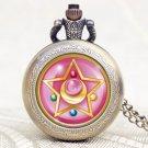 Steampunk Design Pretty Soldier Sailor Moon Pocket Watch Quartz Watches Men
