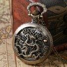 Zodiac Dragon Hollow Watches Women Men Quartz Dragonfly Pocket Watch