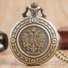 The Double Eagle Austria National Emblem Necklace Vintage Quartz Pocket Watch