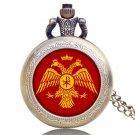 Antique Russia's Double-headed Eagle Design Bronze Pocket Watch