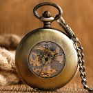 Thanksgiving Gift Pocket Watch Automatic Mechanical Trendy Steampunk Hollow Fob Watch