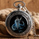 Evil Dragon Mechanical Pocket Watches Vintage Silver Steampunk Hand-Wind Skeleton Watch