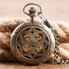 Luxury Symmetry Carving Grilles Mechanical Watches Wind Up Hollow Pocket Watch for Men