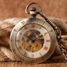 Pocket Fob Watches Luxury Stylish Fashion Wind Up Mechanical Pocket Watch Clock With Chain