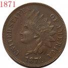 1 Pcs 1871 Indian head cents coin copy