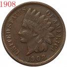 1 Pcs 1908 Indian head cents coin copy