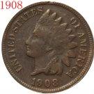1 Pcs 1908s Indian head cents coin copy