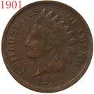1 Pcs 1901 Indian head cents coin copy