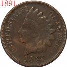 1 Pcs 1891 Indian head cents coin copy