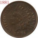 1 Pcs 1881 Indian head cents coin copy