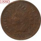 1 Pcs 1880 Indian head cents coin copy