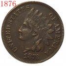 1 Pcs 1876 Indian head cents coin copy