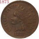 1 Pcs 1875 Indian head cents coin copy