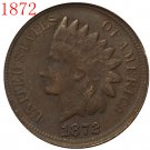 1 Pcs 1872 Indian head cents coin copy
