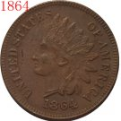 1 Pcs 1864 Indian head cents coin copy