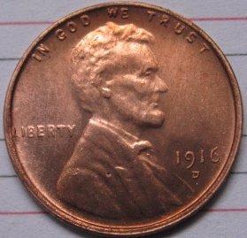 1 Pcs 1916-D Lincoln Penny Coins Copy 95% coper manufacturing