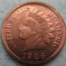 1 Pcs 1906 Indian head cents coin copy 100% coper manufacturing
