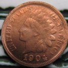 1 Pcs 1904 Indian head cents coin copy 100% coper manufacturing