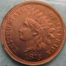 1 Pcs 1875 Indian head cents coin copy 100% coper manufacturing