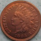 1 Pcs 1864 Indian head cents coin copy 100% coper manufacturing