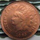 1 Pcs 1863 Indian head cents coin copy 100% coper manufacturing