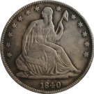 1 Pcs 1840 Seted Liberty Half Dollar Coin Copy