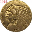 1 Pcs 24-K gold plated 1915 $5 GOLD Indian Half Eagle Coin Copy