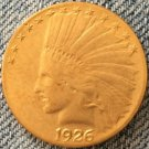 1 Pcs 24- K gold plated 1926 Indian head $10 gold coin COPY