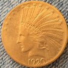 1 Pcs 24- K gold plated 1920-S Indian head $10 gold coin COPY