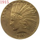 1 Pcs 24-K gold plated 1915 $10 GOLD Indian Half Eagle Coin Copy