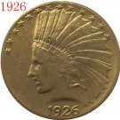 1 Pcs 24-K gold plated 1926 $10 GOLD Indian Half Eagle Coin Copy