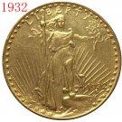 1 Pcs 1932 $20 St. Gaudens Coin Copy