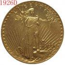 1 Pcs 1926-D $20 St. Gaudens Coin Copy