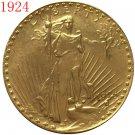 1 Pcs 1924 $20 St. Gaudens Coin Copy
