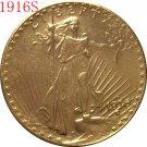 1 Pcs 1916-S $20 St. Gaudens Coin Copy