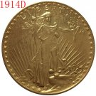 1 Pcs 1914-D $20 St. Gaudens Coin Copy