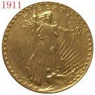1 Pcs 1911 $20 St. Gaudens Coin Copy