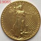 1 Pcs 1908-S $20 St. Gaudens Coin Copy