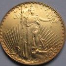 1 Pcs 1923-D $20 St. Gaudens Coin Copy 100% coper manufacturing gold-plated