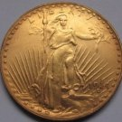 1 Pcs 1914 $20 St. Gaudens Coin Copy 100% coper manufacturing gold-plated
