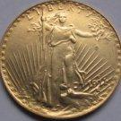 1 Pcs 1911-D $20 St. Gaudens Coin Copy 100% coper manufacturing gold-plated
