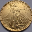1 Pcs 1908-D $20 St. Gaudens Coin Copy 100% coper manufacturing gold-plated