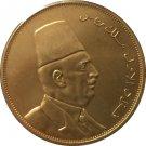 1 Pcs 24-K Gold plated Egypt 1922 - Fuad I Kingdom gold Coin copy 36MM