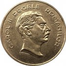 1 Pcs 1939 Romania 100 Lei Copy Gold coins 35mm