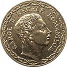 1 Pcs 1940 Romania 100 Lei Copy Gold coins 35mm