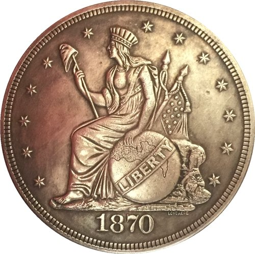 1 Pcs 1870 United States $1 Dollar coins COPY Type 2