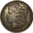 1 Pcs 1891-S USA Morgan Dollar coins COPY
